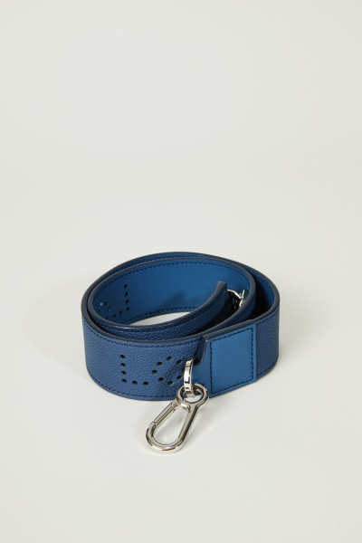 Lederriemen 'Perforated Strap' Blau