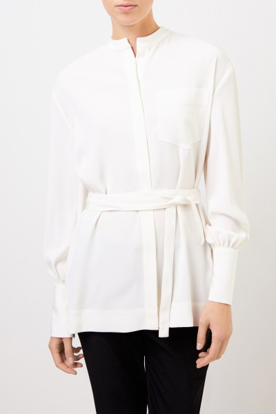 Co Lange Bluse mit breiten Manschetten Crème