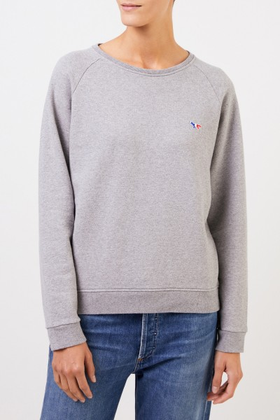 Maison Kitsuné Sweatshirt 'Tricolor Fox' Grey