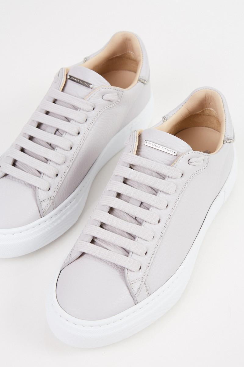 Mit Grau Perlenverzierung Sneaker Sneaker Perlenverzierung QrsCthd
