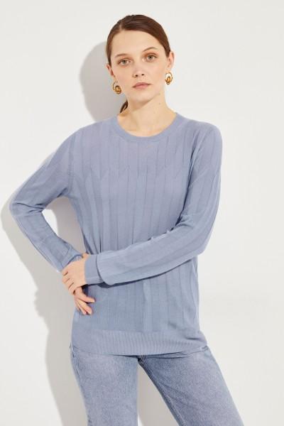Cashmere-Pullover Blau