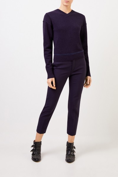 Wool cashmere pullover with back detail Evening