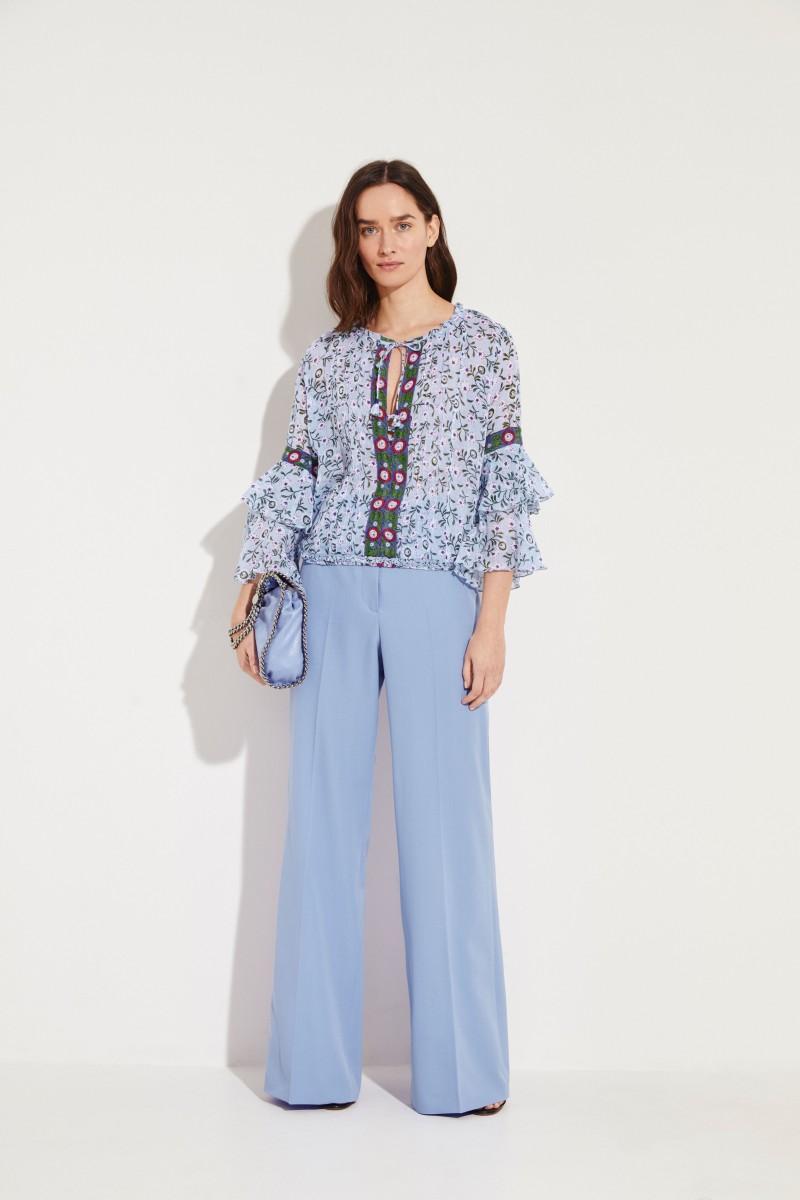 Stella McCartney Wide Woollen Pants Blue
