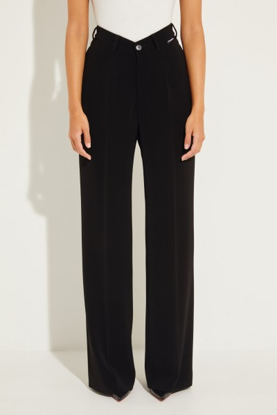 Pants with wide leg Black