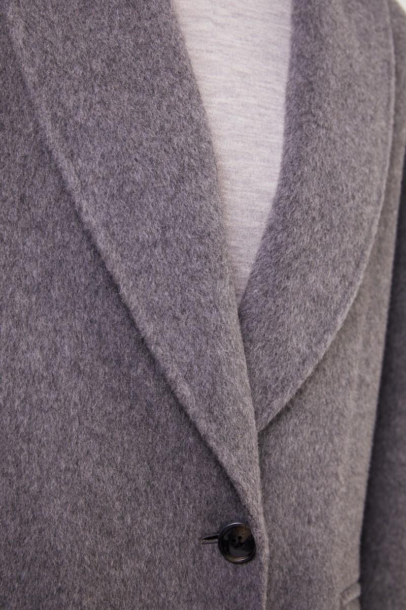 Woll-Alpaca-Mantel Grau