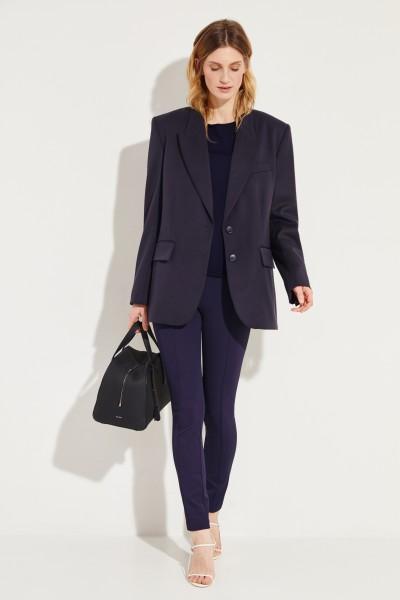 Baumwoll-Cashmere-Pullover Marineblau