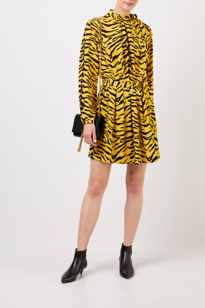 Short dress with print Black/Yellow