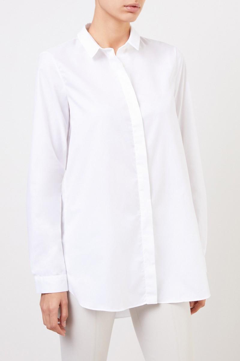 Artigiano Klassische Baumwoll-Bluse 'Salome' Weiß