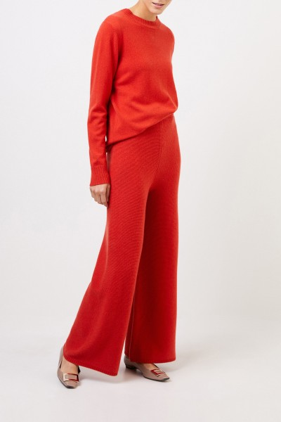 Uzwei Cashmere trousers with wide leg Orange