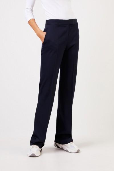 Stella McCartney Wool trousers Navy Blue