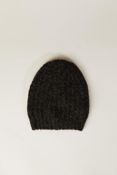 Grobstrick-Mütze Braun
