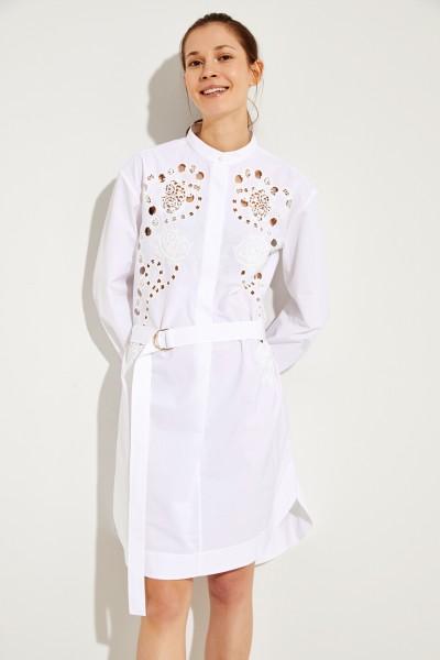 Patterned cotton dress White