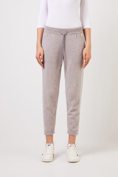 Colombo Cashmere-Hose mit umgeschlagenen Saumkanten Grau
