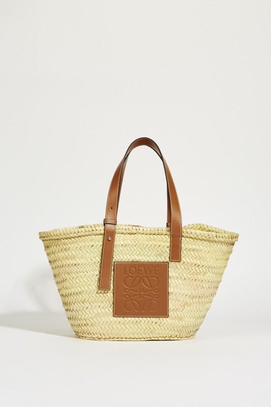 Korb 'Basket Bag Medium' Natural/Tan