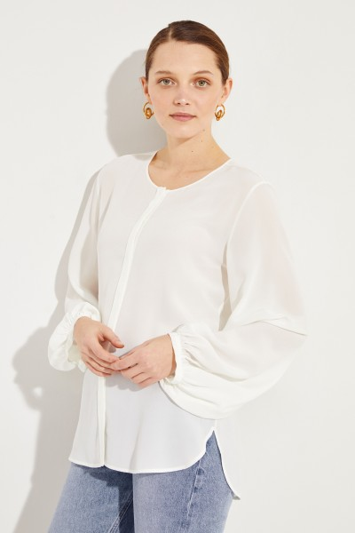 Silk blouse 'Aerin' Cream white