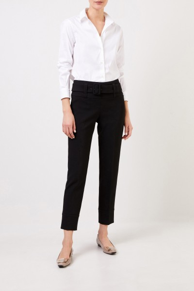 Trousers 'Faye' with zipper detail Black