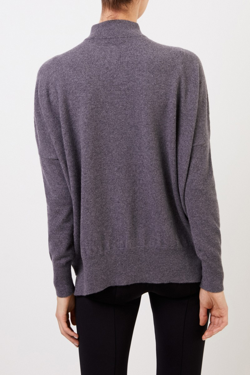 Colombo Cashmere-Pullover mit Turtleneck Grau