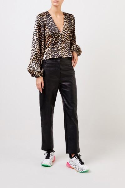 Leatherette-Pants 'Hailey' Black