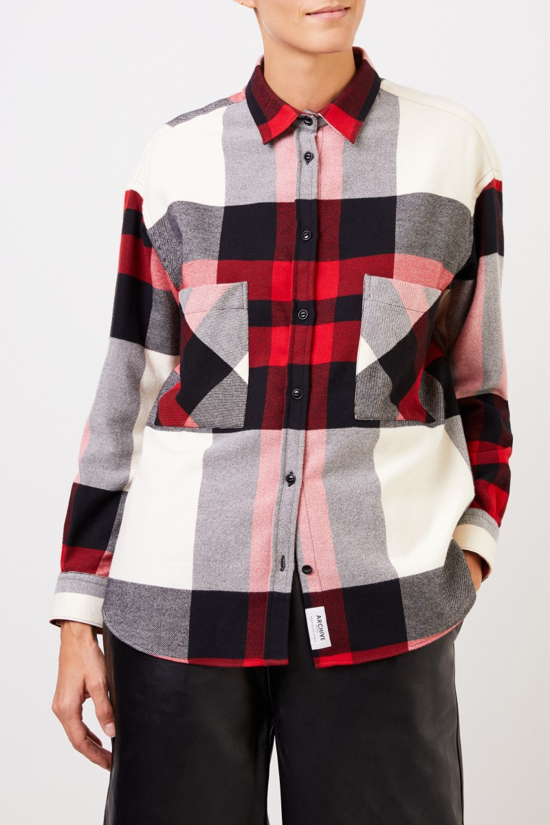 Woolrich Flanellhemd mit Karomuster Rot/Multi