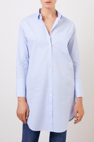 Steffen Schraut Long blouse with stripe pattern Blue/Multi