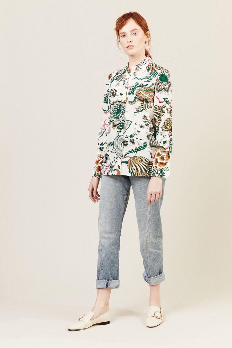 Seiden-Bluse 'Erica' mit Print Multi
