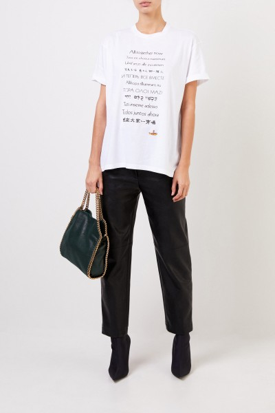 Stella McCartney T-Shirt with frontal application Black