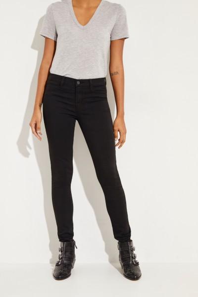 Mid-Rise Super Skinny Jeans Schwarz