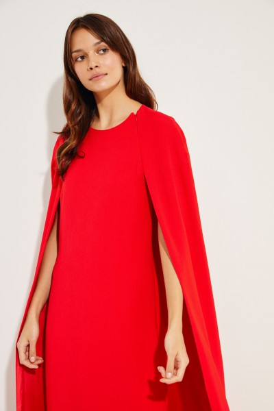 Stella McCartney Long evening dress with cape detail Red