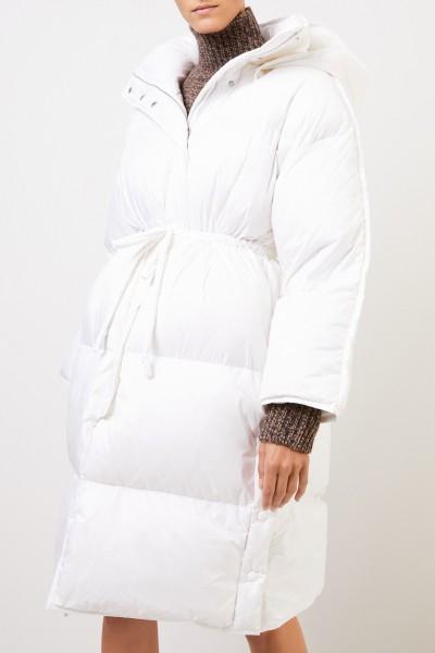 Acne Studios Down coat 'Ottie Nylone Buffer' with hood White