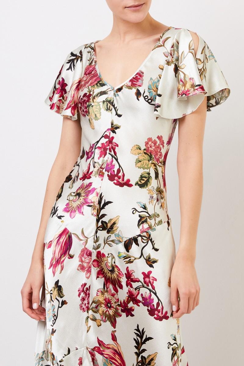 Etro Langes Kleid mit Print Multi