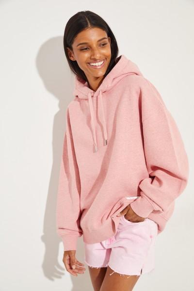 Oversize Sweatshirt 'Fyola' mit Kapuze Pink Melange