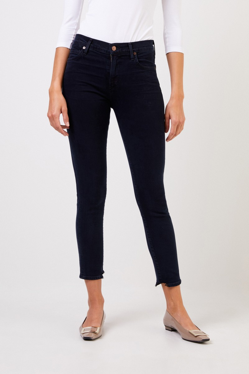 Citizens of Humanity Highrise Skinny Jeans 'Rocket Cropped' Dunkelblau