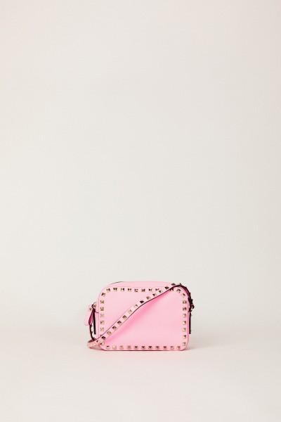 Umhängetasche mit Nietenbesatz Pink