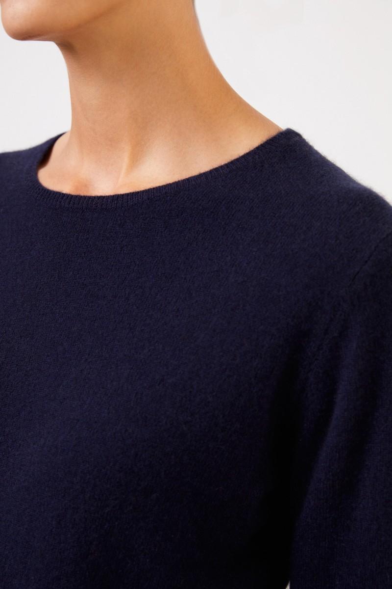 Uzwei Cashmere-Pullover mit R-Neck Marineblau