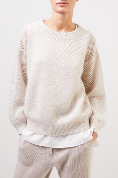 Brunello Cucinelli Mohair pullover with lurex details Cream