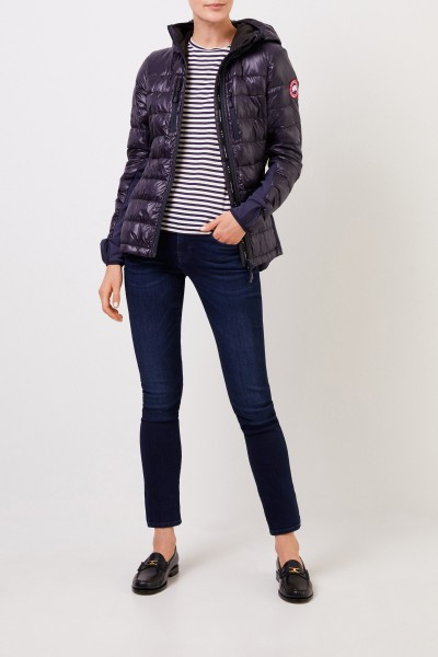 Short down jacket with hood navy Blue