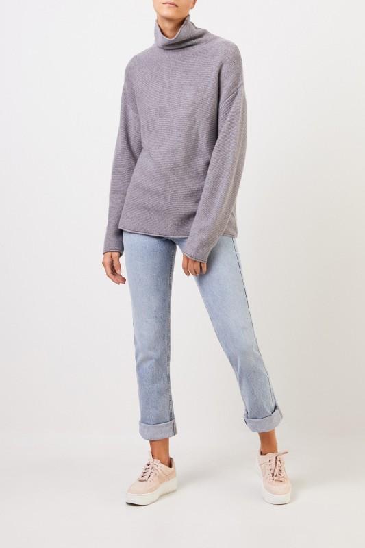 Uzwei Cashmere-Pullover mit Turtleneck Grau