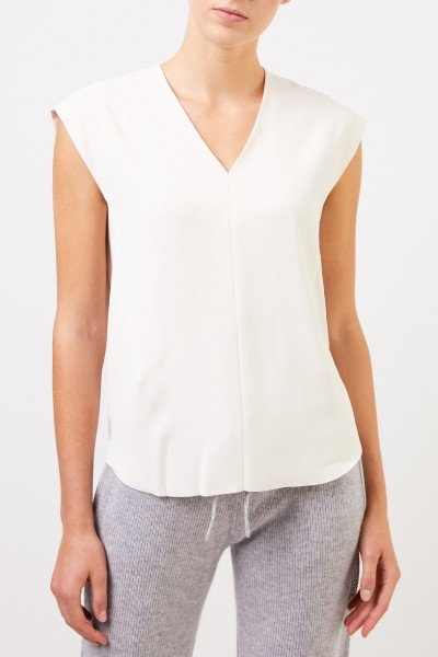 Vince Top with v-neck Cream