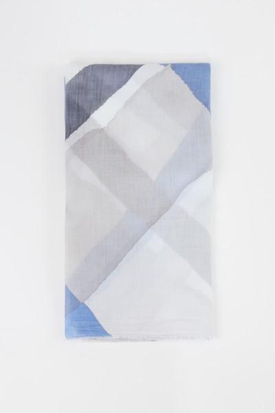 Iris von Arnim Tuch 'Tadala' mit Print Blau/Multi