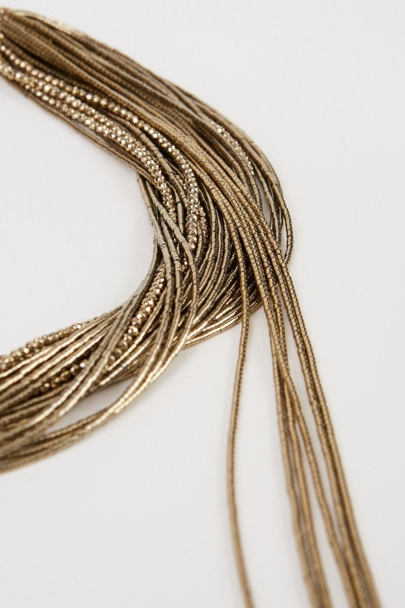Brunello Cucinelli Kette mit Details Gold