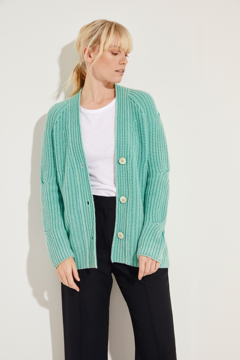 Cashmere Cardigan 'Maggie' Mint