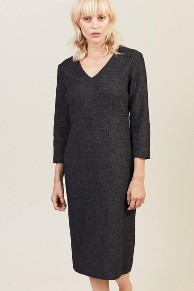 Woll-Kleid Blau