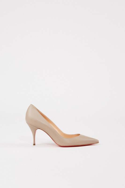 Christian Louboutin Pump 'Clare 80' Taupe