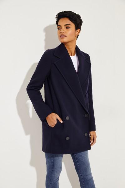 Short Wool Coat 'Edith' Blue