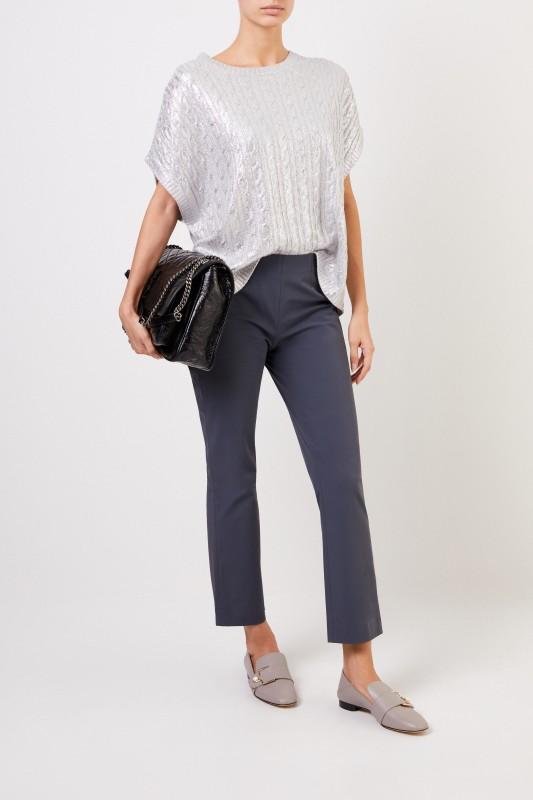 Seductive Elastische Hose 'Cindy' Grau