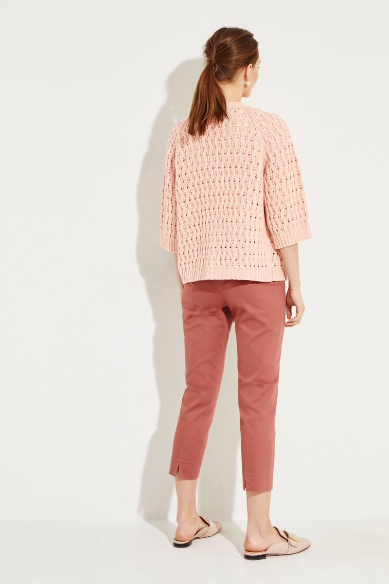 Woll-Cashmere-Cardigan 'Paraguay' Rosé