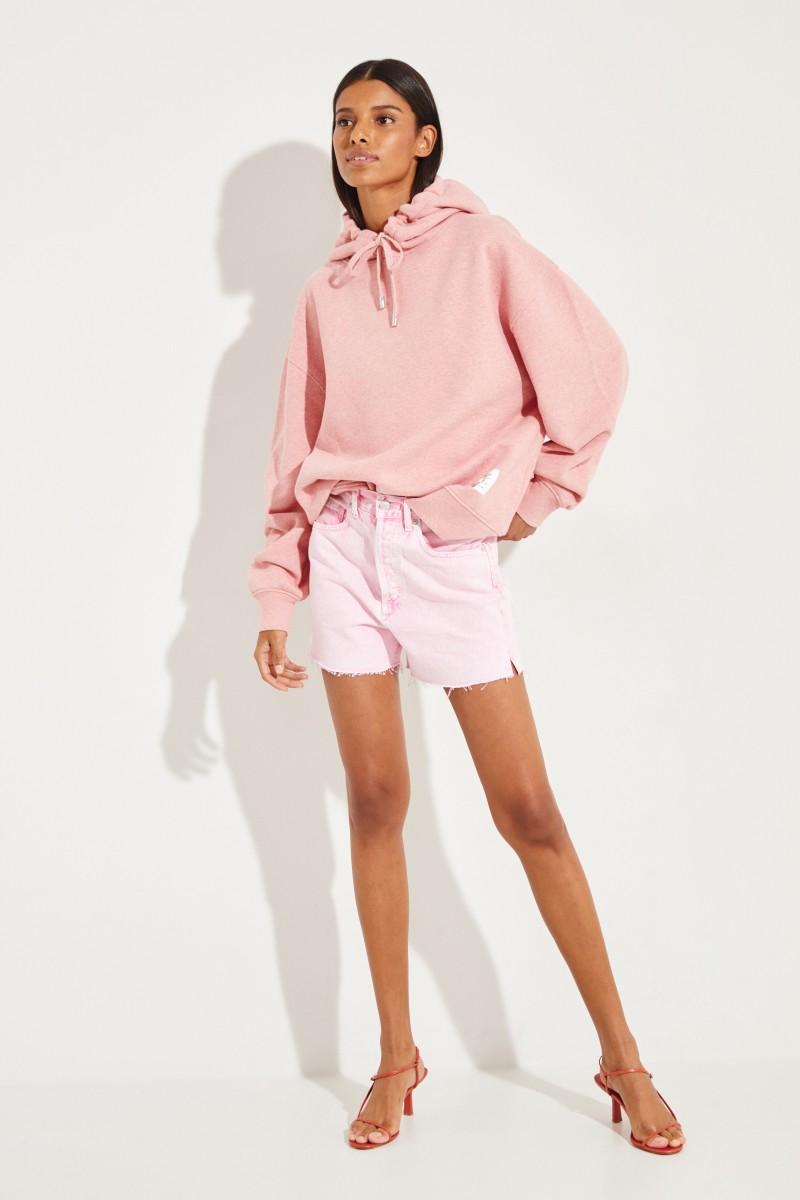 Jeans-Shorts 'Dee Short' im Destroyed-Look Rosé