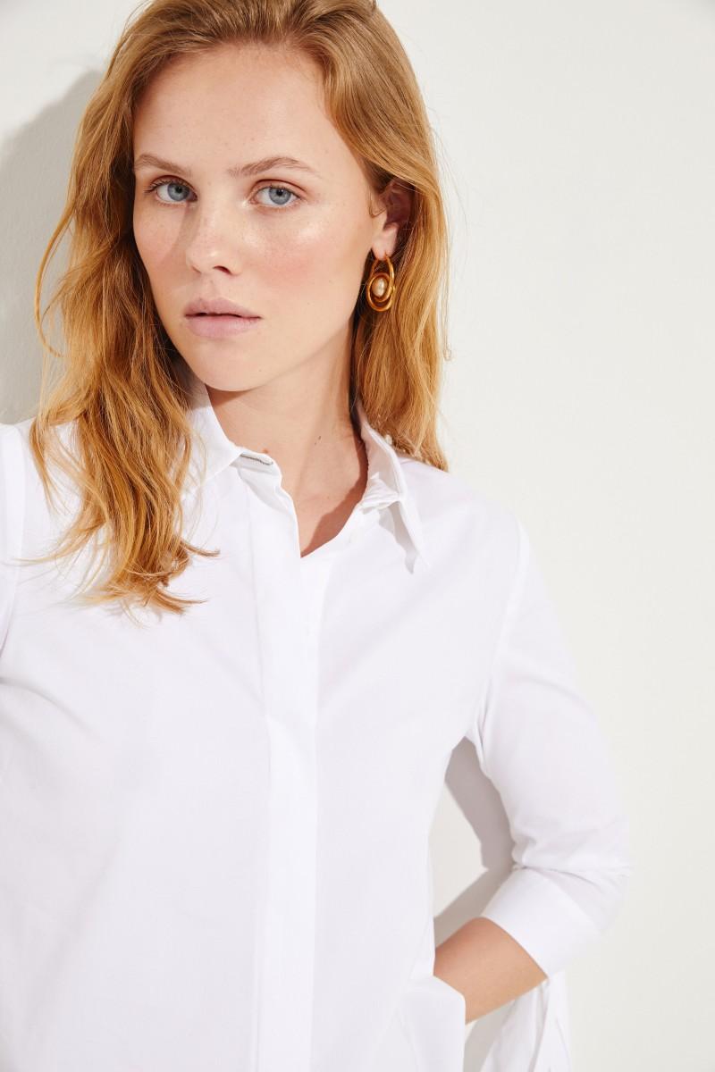 Bluse mit Bindedetails Weiß