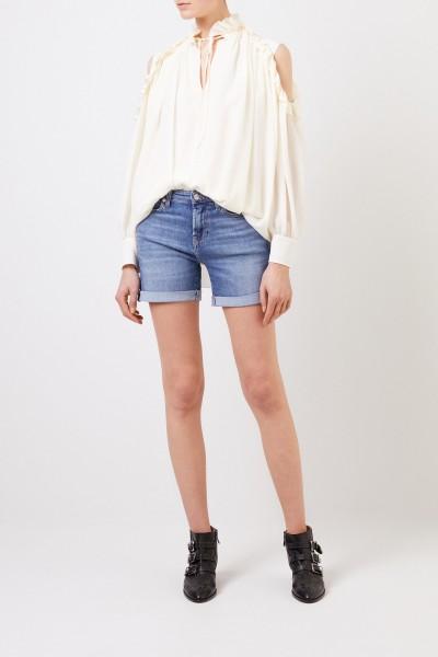 Klassisches Jeans-Shorts Blau