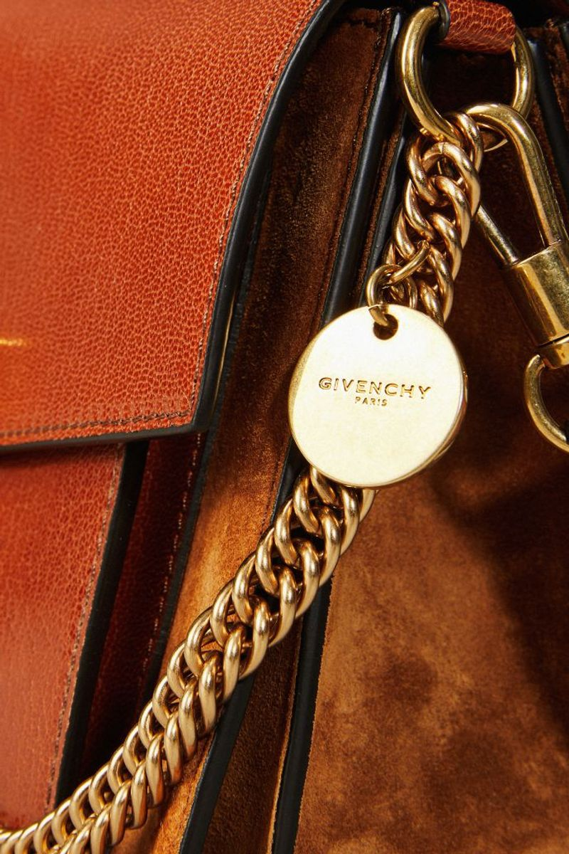 Schultertasche 'GV3 Small' mit Goldelementen Braun